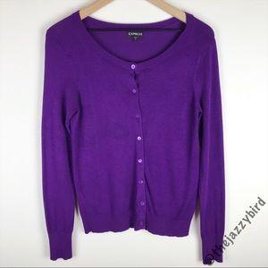 Express | Royal Purple Button Up Cardigan